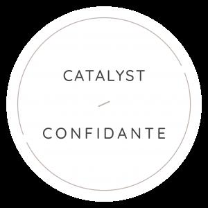 Catalyst Confidante circular badge